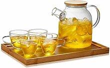 YINUO Transparente Glas-Teekanne Home Teekanne