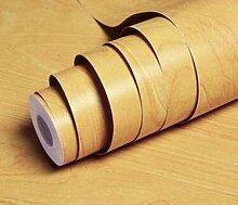 Yirenfeng Aufkleber Tapete mit Holzimitat,