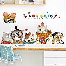 Yirenfeng Cat Pet Shop Fenster Dekoration Aufkleber