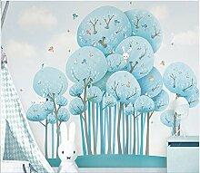 Yirenfeng Handgemalte Tapete Große Fresko Kinder-