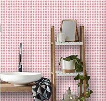 Yirenfeng Selbstklebende Tapete Für Wohnheim Pink