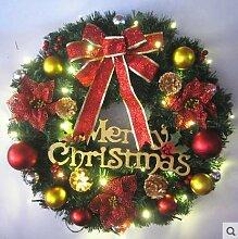 Yirenfeng Weihnachtsgirlande 40Cm Laterne