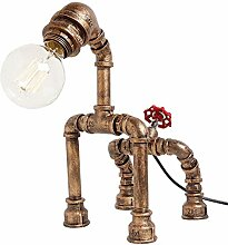 Yisaesa Retro Tischlampe Wasserpfeife Design Lampe
