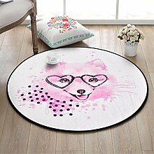 YISANLING-DT Teppich Abstract Cartoon Round Rug