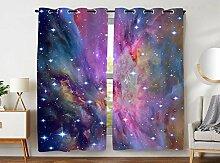 YISUMEI - Gardinen Blcikdicht - Galaxy Nebel - 245