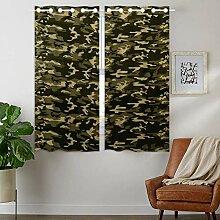 YISUMEI - Vorhang Blcikdicht - Camouflage Camo -