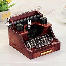 Yiuswoy Mini Vintage Schreibmaschine Spieldose