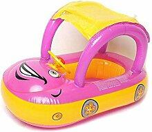 YIWANGO Baby Schwimmring mit Markise Autositz,A