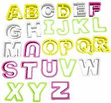 Yiwencult Keksausstecher A-Z 26 Buchstaben
