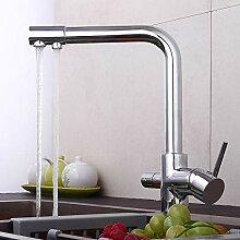 YiWon 3 Wege Küchenarmatur Küche Wasserhahn