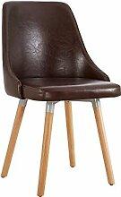 YIXINY Deckchair Stuhl PU + Holz 49cm * 43cm *