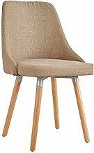 YIXINY Deckchair Stuhl Sackleinen + Holz 49cm *