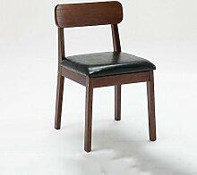 YIXINY Esszimmerstühle Schreibtisch Stuhl Kaffee Hocker Massivholz Beine Esszimmerstuhl PU Restaurant Schlafzimmer Büro Hotels Haushalt ( Farbe : Grün )