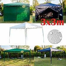 Yiyai 3x3m Faltpavillon mit Starker Stahlrahmen,