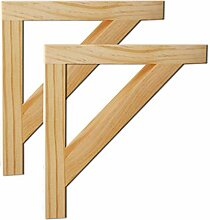 YiYi Shelf Brackets Holzhalterung - 2er-Pack