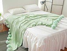 Yiyida 100% Baumwolle Weich Gestrickte Decke auf