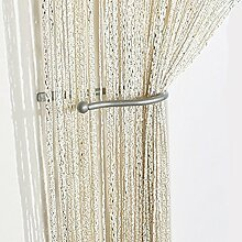 Yiyida 1pcs Glitter String Vorhang Panel, 100 % Polyester, 2.9m x 2.9m Tür Fenster Home Decor ,Gelb