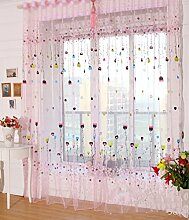 Yiyida 2er Set Voile Gardinen Kinderzimmer