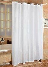 Yiyida Weiß Badezimmer Duschvorhang Anti-Schimmel Polyester Duschvorhänge wasserdicht mit 12 Haken (240 x 200cm)