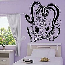 yiyitop Aufkleber Wandbild Monster High Cartoon