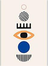 yiyitop Geometrisches abstraktes Plakat Bunte