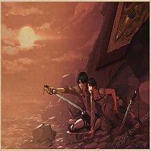 yiyitop Japanische Cartoon Anime Poster Single