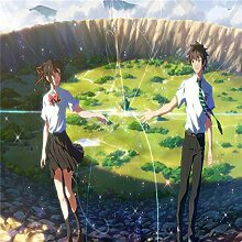 yiyitop Japanische Karikatur Filmplakat Single