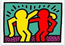 yiyitop Pop-Art abstrakte Malerei Plakate und