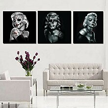 yiyitop Rahmenlose HD Drucken Marilyn Sugar Skull