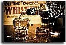 yiyitop Whisky Wandplakate und Drucke Modern Pour