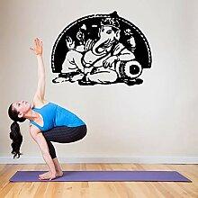 yiyiyaya Vinyl wandaufkleber Yoga Ganesha Hindu