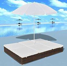 YiYueTrade Outdoor-Loungebett mit Sonnenschirm