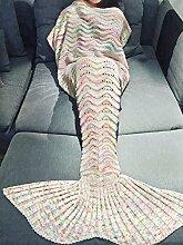 YiZYiF Meerjungfrau Flosse Decke Handgemachte