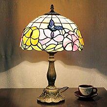 Yjmgrowing Tiffany Style Bunt Glastisch Lampe