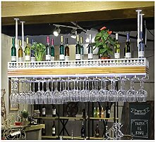 YJPDPHJJ Bar Weinglas Rack hängen Massivholz