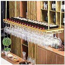 YJPDPHJJ Goldener Weinglashalter, Umgedrehtes
