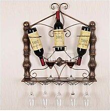 YJPDPHJJ Wein Becherhalter dekorative Weinregal