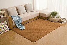 YJR-Teppich Warm Komfortabel Weich Modern Simplicity Thick Coral Fluff Teppich Wohnzimmer Couchtisch Schlafzimmer Nachttisch Teppich / Matten für Heim & Gewerbe ( Farbe : Khaki , größe : 120*160cm )