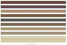 YJRIC Dekoratives farbiges Klebeband 10 Stück/Los
