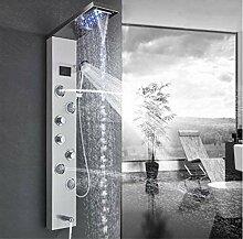 yjsb Badezimmer Dusche Wasserhahn LED gebürstet