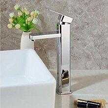 yjsb Chrom poliert hoch Badezimmer Waschbecken
