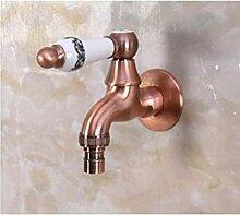 yjsb Gerieben Bronze außerhalb Garten Wasserhahn