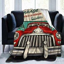 YJWLO Vintage Auto Garage mit Route personalisiert
