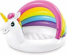 YJYQ Einhorn Baby Pool, Baby Planschbecken mit