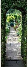 YJZ Türtapete Europäischer Art-Tür-Loch-Garten