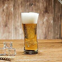 YJZQ Glas Bierkrug Original Bierseidel Getränke