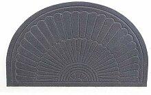 YK Decor Fußmatte, halbrund, für drinnen und