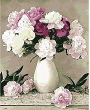 YKCKSD Malen Nach Zahlen Acrylbild Blumen DIY