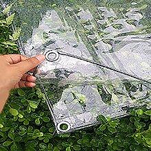 YKJL PVC-Markise Plane mit Ösen 0,3 mm weicher