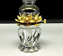 Yksm Dimmbare Lotus-Petroleumlampe Kristallglas